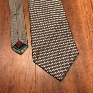 Tommy Hilfiger Silver Striped Silk Tie